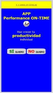 HERRAMIENTA DE PRODUCTIVIDAD ON-TIME